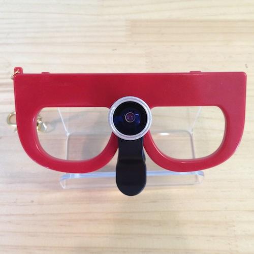 メガネカメラ:魚眼レンズ