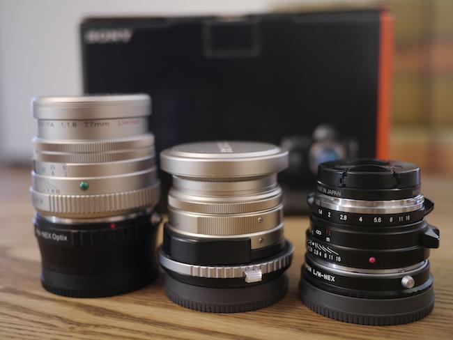 SONYα7R と レンズ