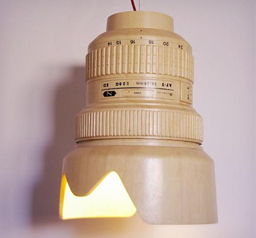 レンズ型ランプシェード