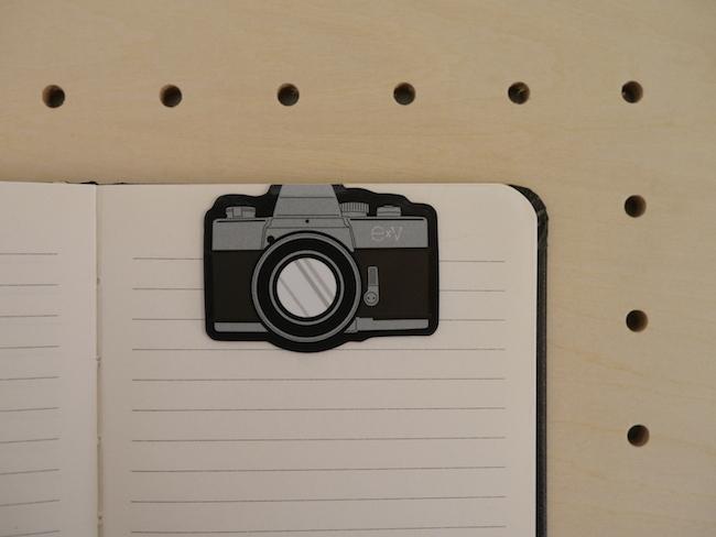 カメラ型ブックマーク ブラック