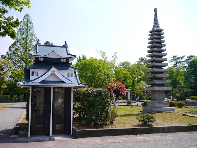 岡崎城 公衆電話