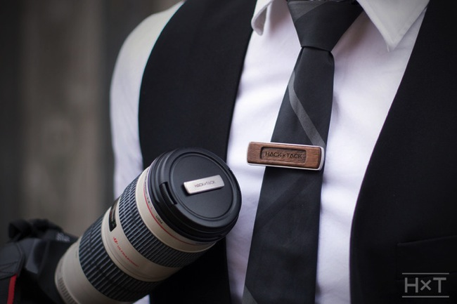 Magnetic camera lens cap holder