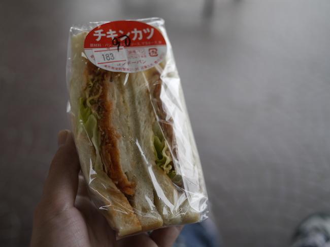 チキンカツ サンドイッチ