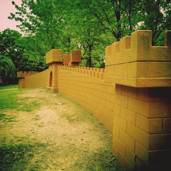 向山緑地公園 万里の長城