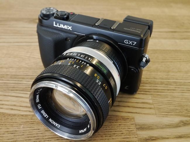 LUMIX DMC-GX7:Canon 50mmF1.4