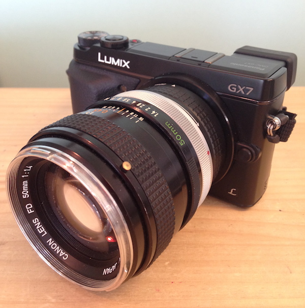 GX7でオールドレンズを使う設定(Canon 50mmF1.4)