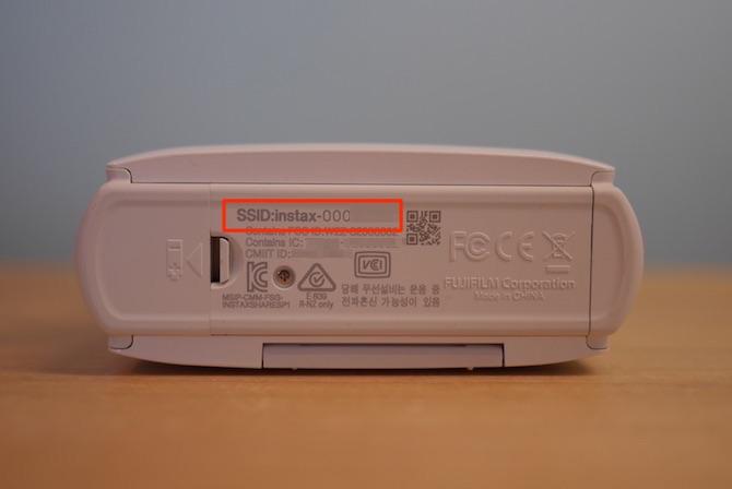 スマホdeチェキ SSID