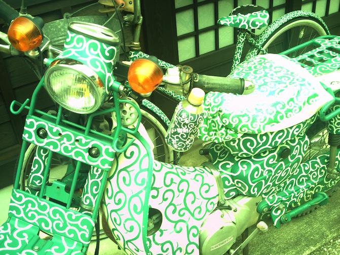 唐草バイク 高山