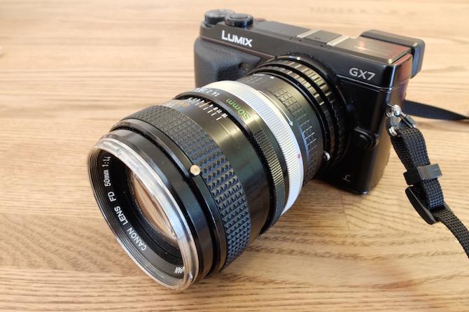 GX7 Canon 50mmF1.4