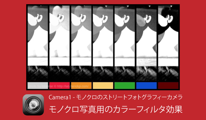 Camera1 - モノクロのストリートフォトグラフィーカメラ