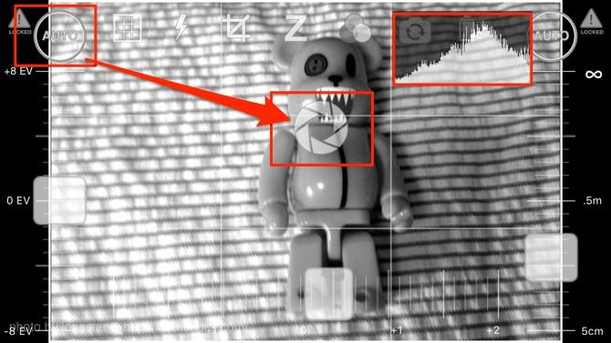 autoボタンを写真上にドラッグするとスポットオート測光が可能になりました