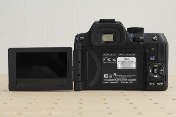 PENTAX K-70 バリアングルモニター