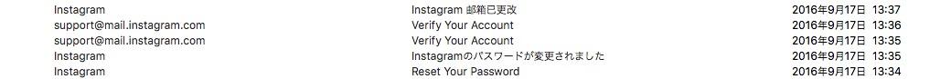 インスタグラム パスワード 変更メール