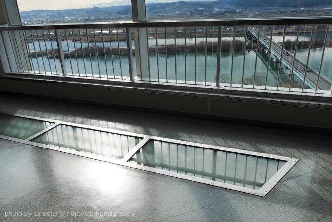 木曽三川公園 ガラス板