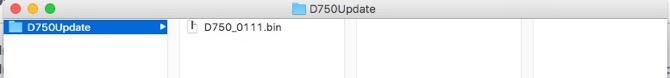 D750 アップデート