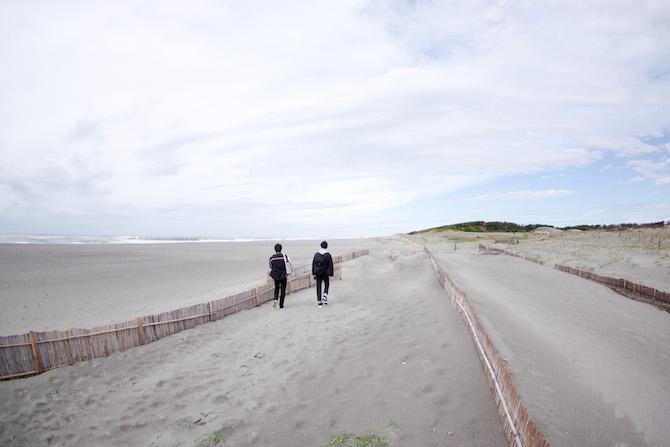 中田島砂丘 海