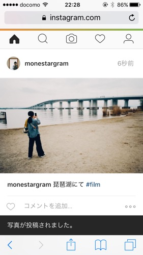 iPhone Instagram 投稿