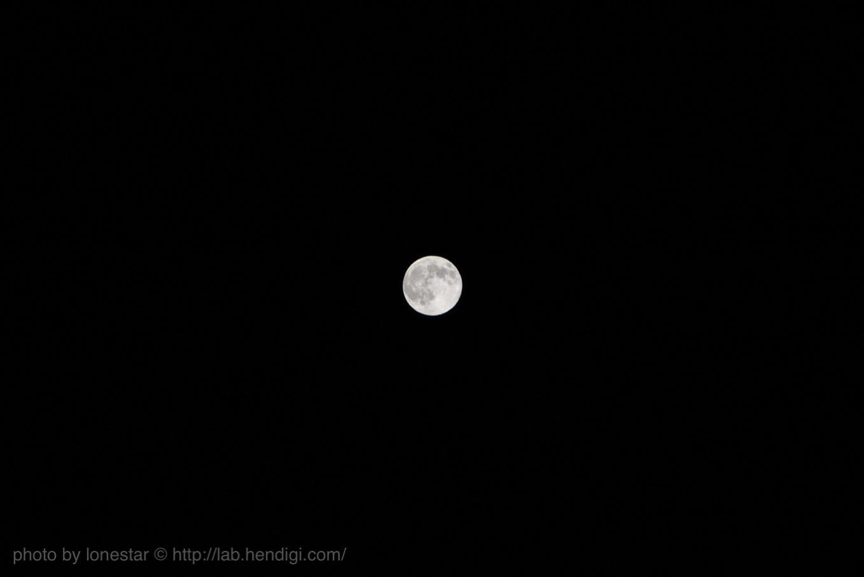 満月 一眼レフ