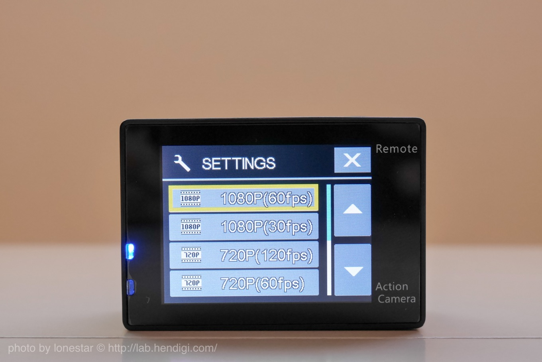 アクションカメラ 1080P 60fps