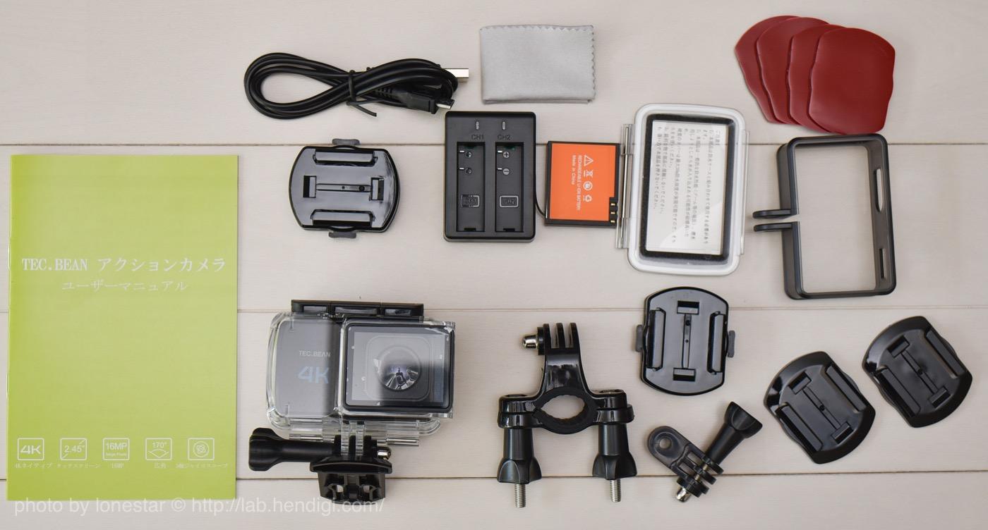 TEC.BEAN 4Kアクションカメラ T3