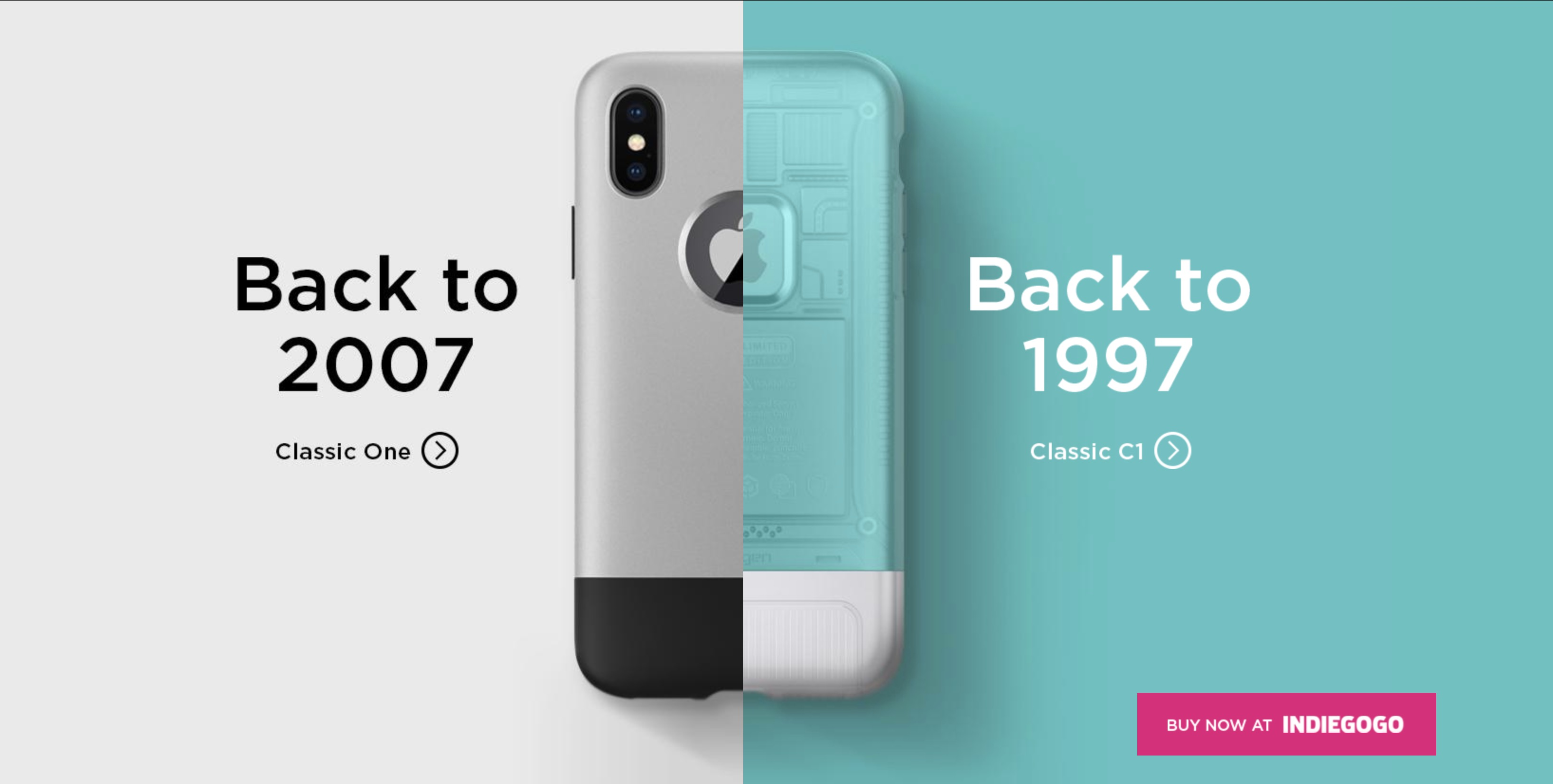 Classic C1: iPhone X case inspired by iMac G3