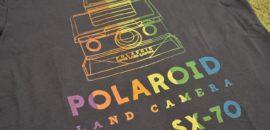 名機ポラロイドSX-70柄のTシャツがユニクロ企業コラボで登場!もちろん買いました!