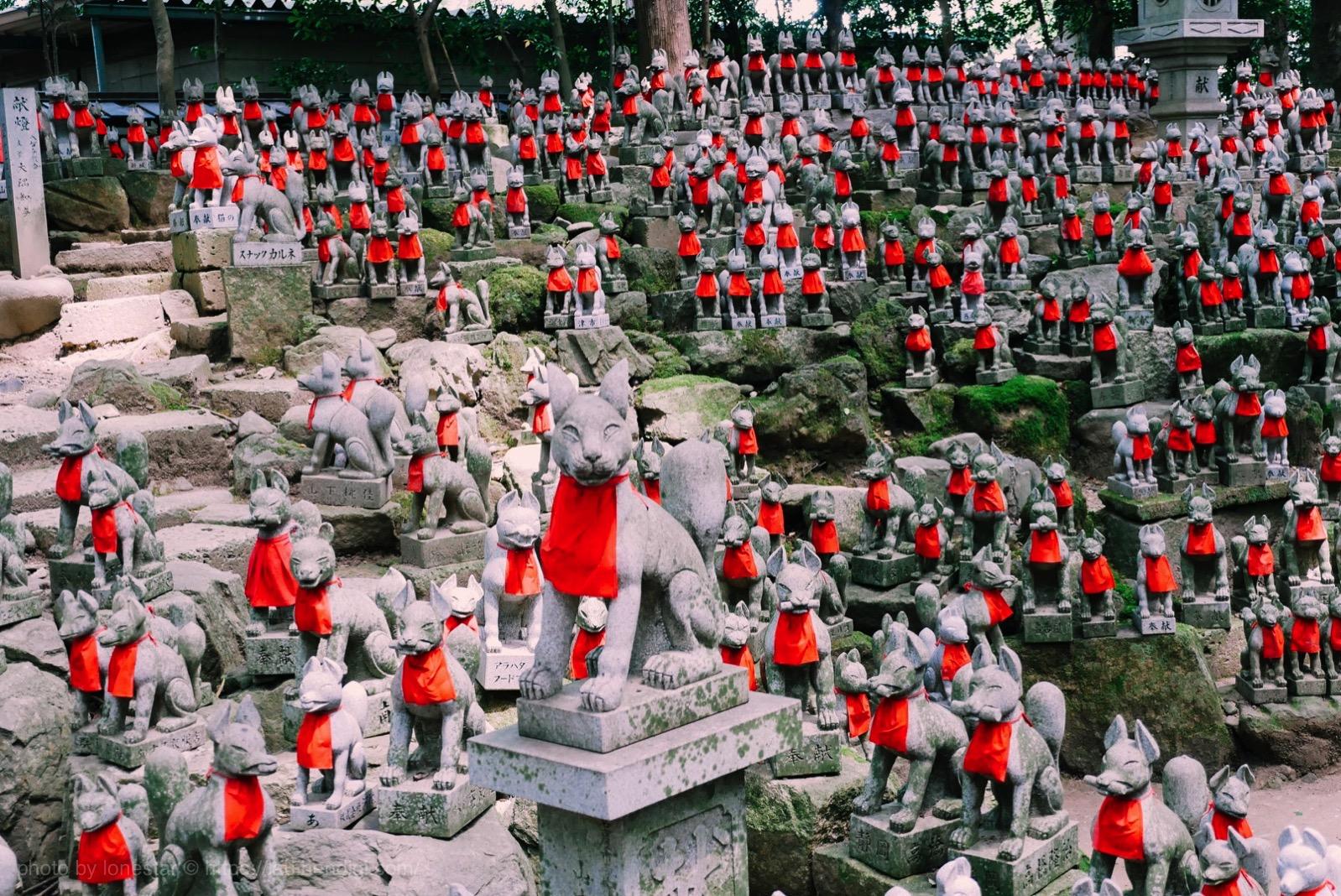 豊川稲荷 きつね 石像