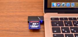 MacBook Air 2018でSDカードの読み込みはAUKEY CB-UD3が小さくて軽くて便利でした!
