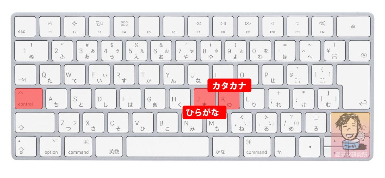 Mac カタカナ 変換 ショートカット