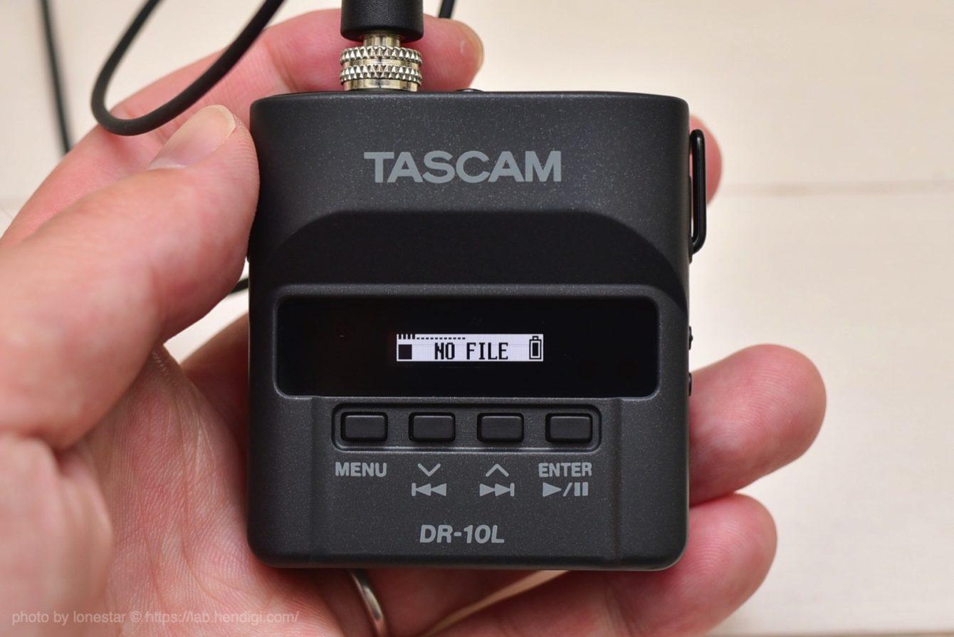 タスカム ピンマイクレコーダー
