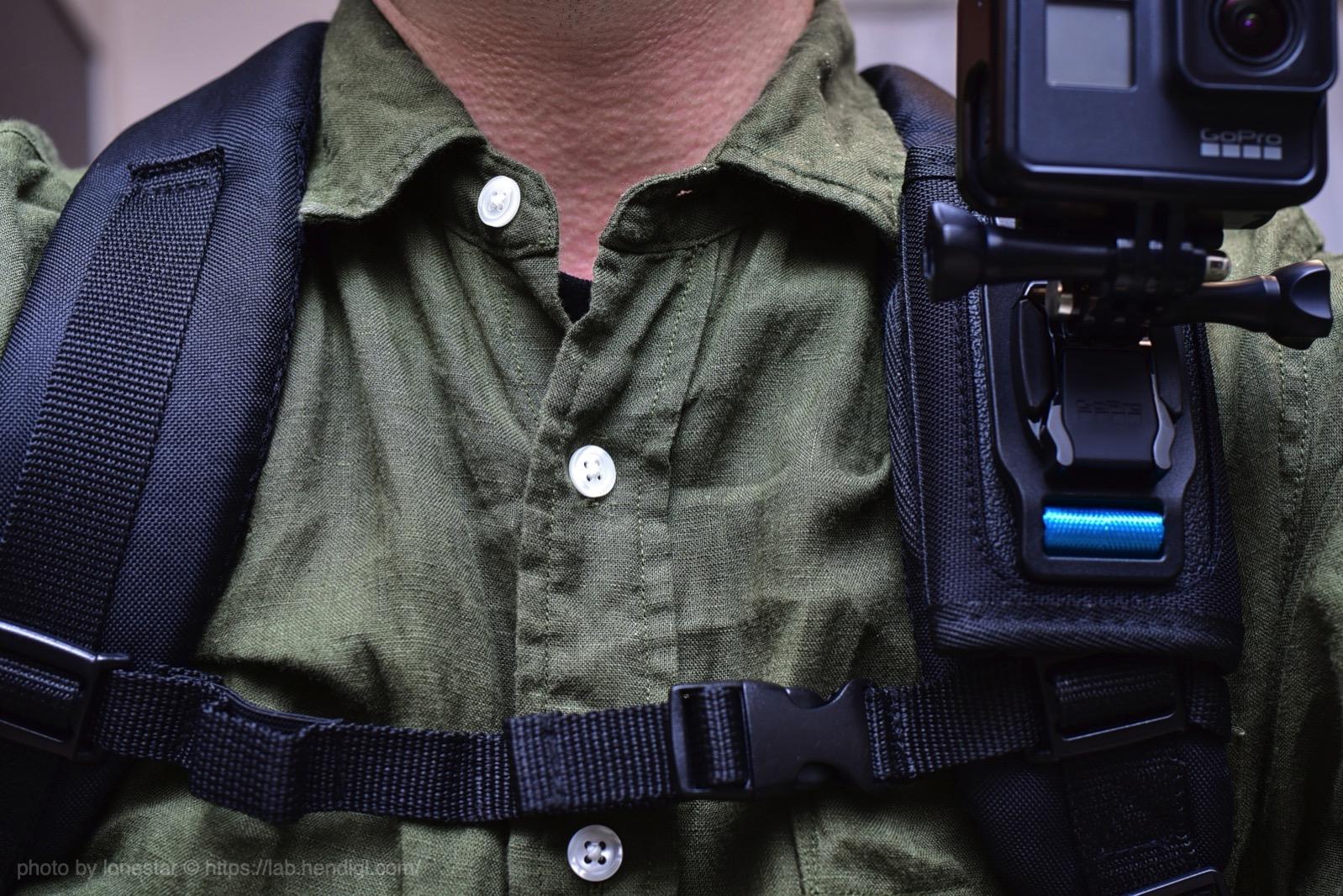 GoPro リュック 撮影