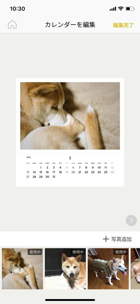 写真 カレンダー 2019