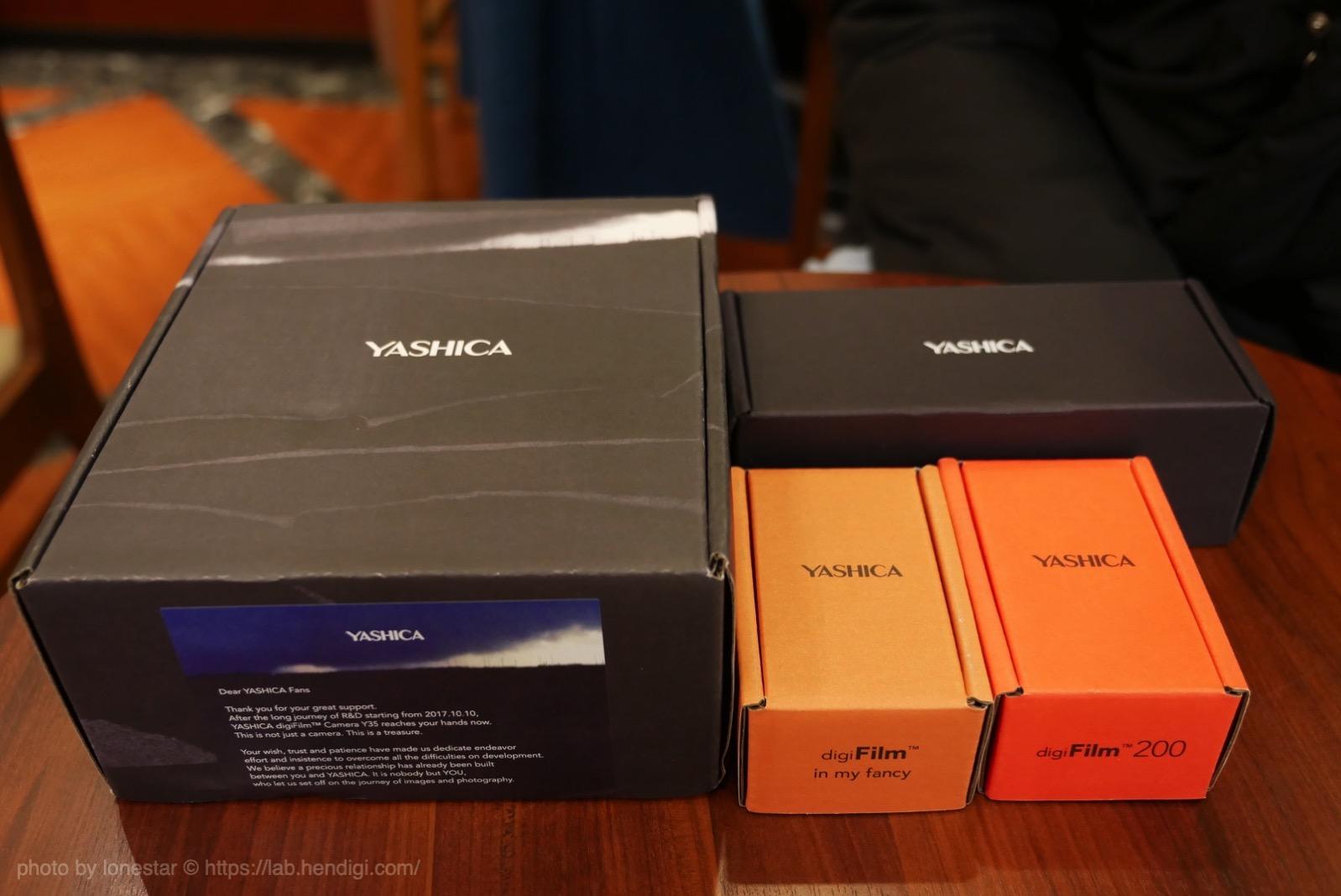 ヤシカ Y35 パッケージ