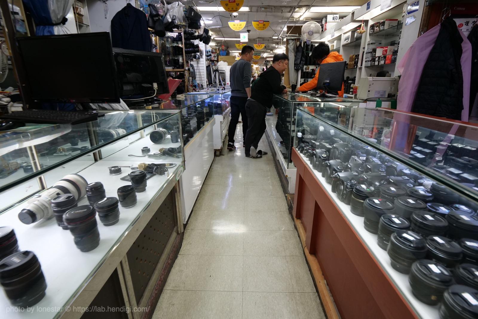 韓国 カメラ通り 地下