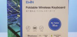 iPadで使うBluetoothキーボードは「Ewin 折りたたみ式ワイヤレスキーボード」が軽くて小さくて便利!