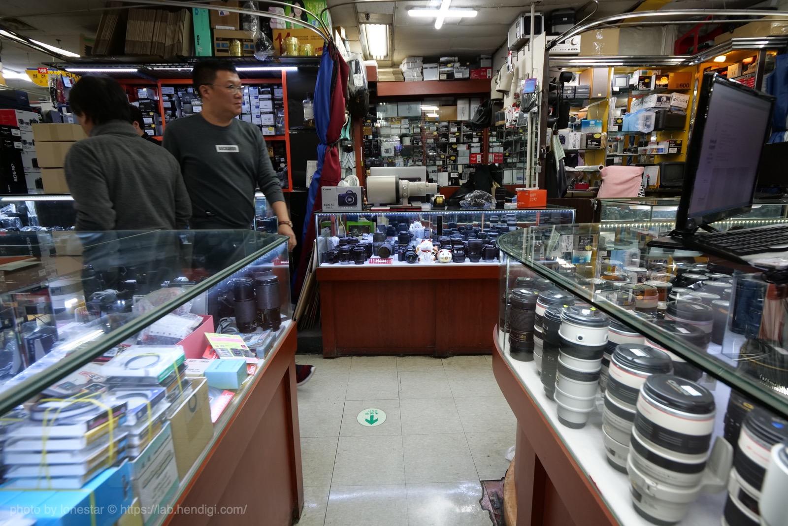韓国 カメラ通り