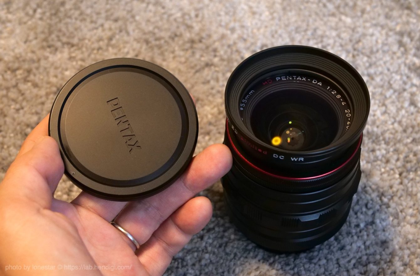 HD PENTAX-DA 20-40mmF2.8-4ED Limited DC WR:レンズキャップ