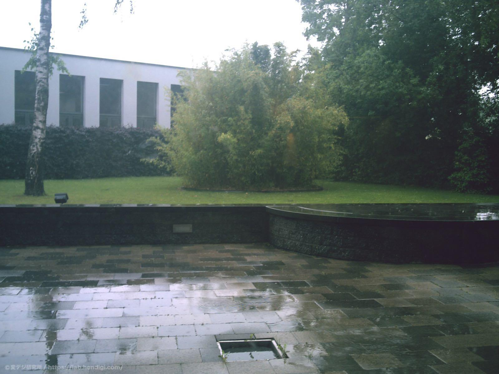 ベルギー 雨