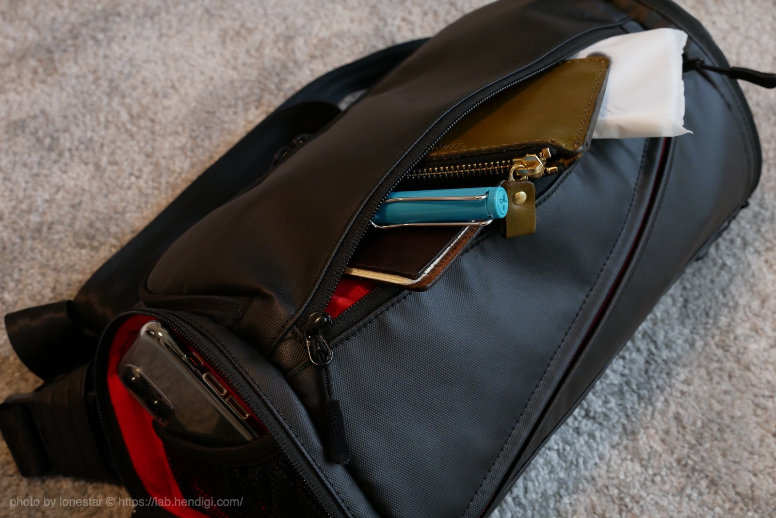 ジェットダイスケ 例のカメラバッグ ポケット