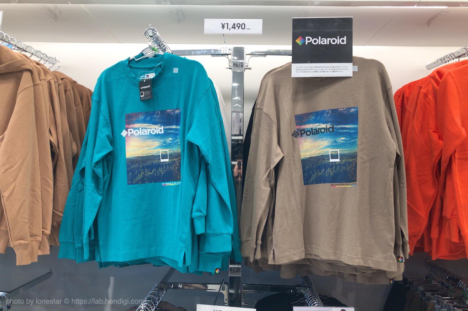 GU ポラロイド コラボ Tシャツ