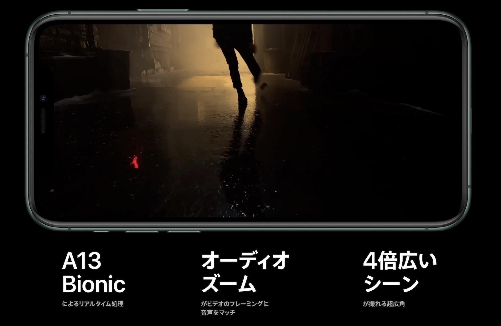 iPhone 11 Pro 動画撮影