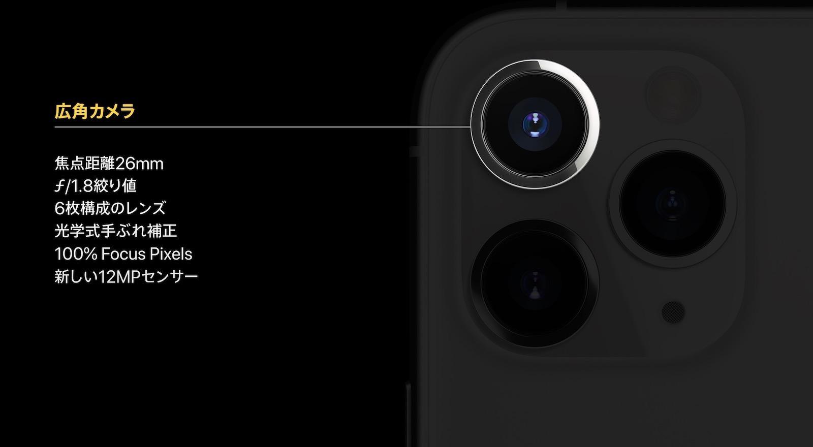 iPhone 11 Pro 広角カメラ