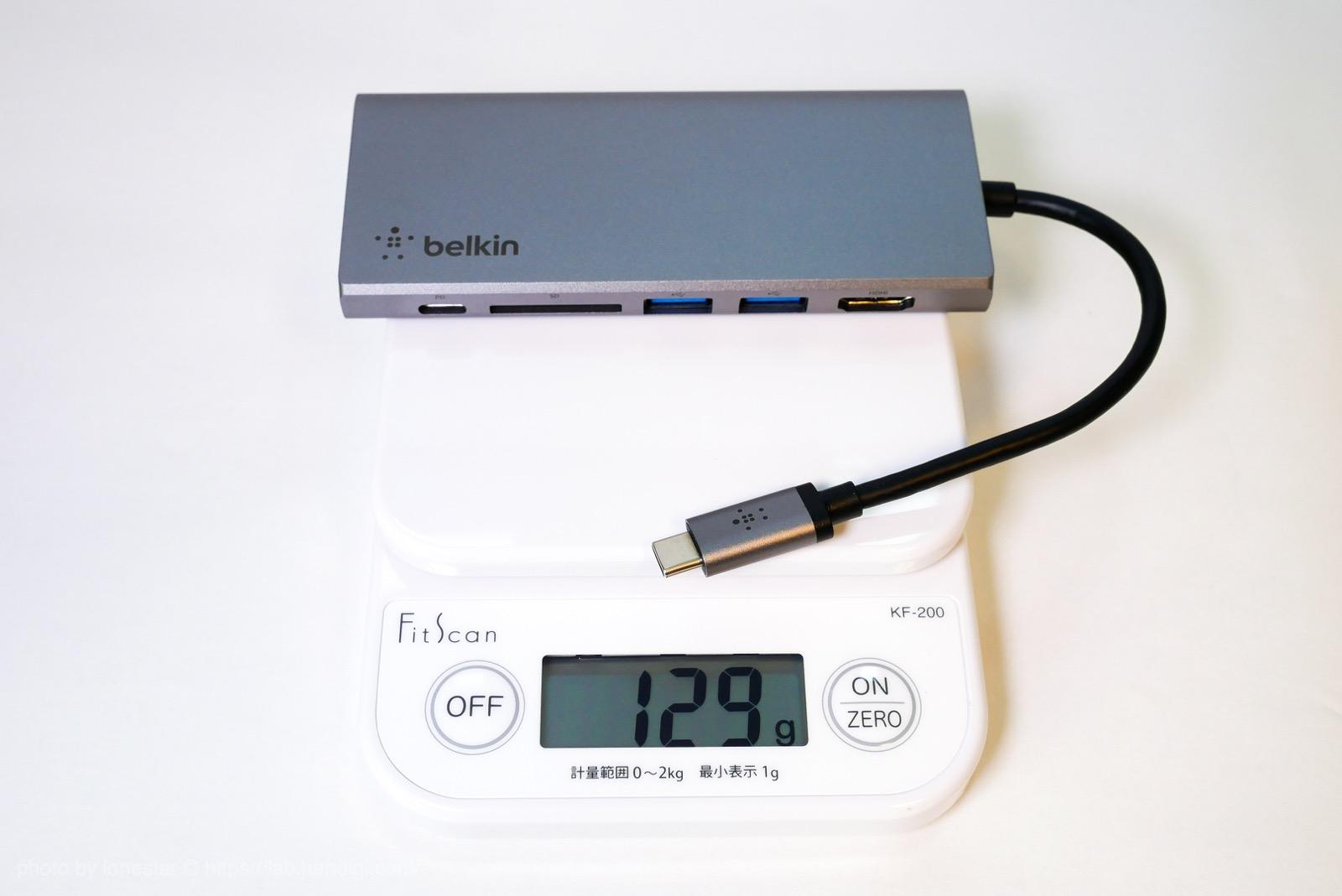ベルキン USB-C マルチメディアハブ レビュー
