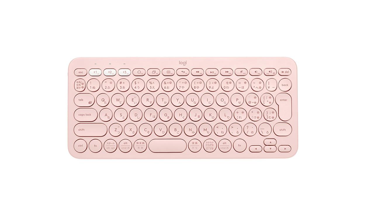 ピンク キーボード