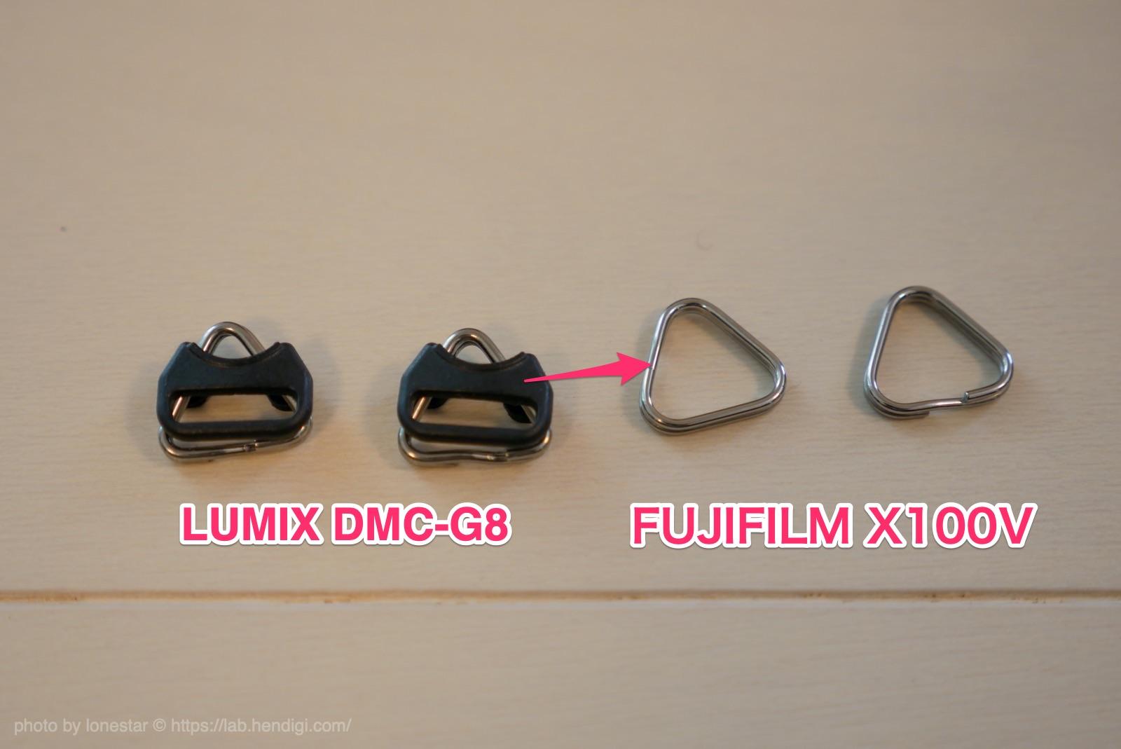 FUJIFILM X100V ストラップ 三角カン