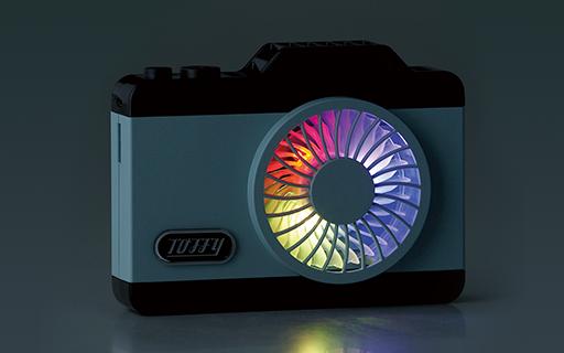 Toffy LEDハンズフリーカメラファン
