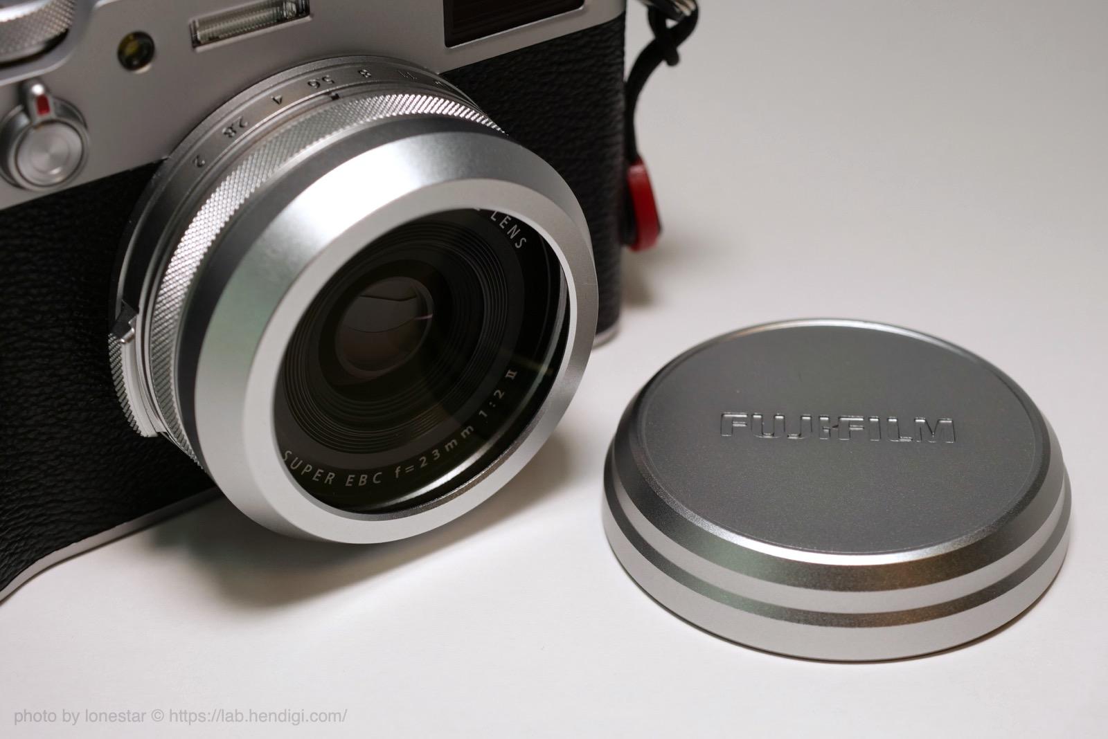 X100V フィルター レンズキャップ