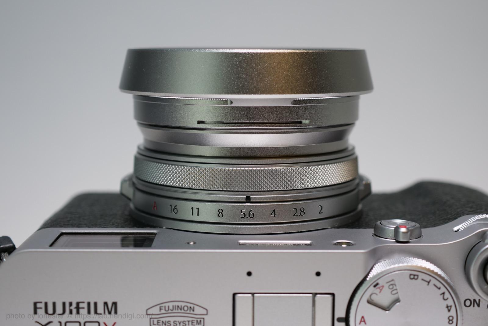 X100V アダプターリング プロテクター レンズフード
