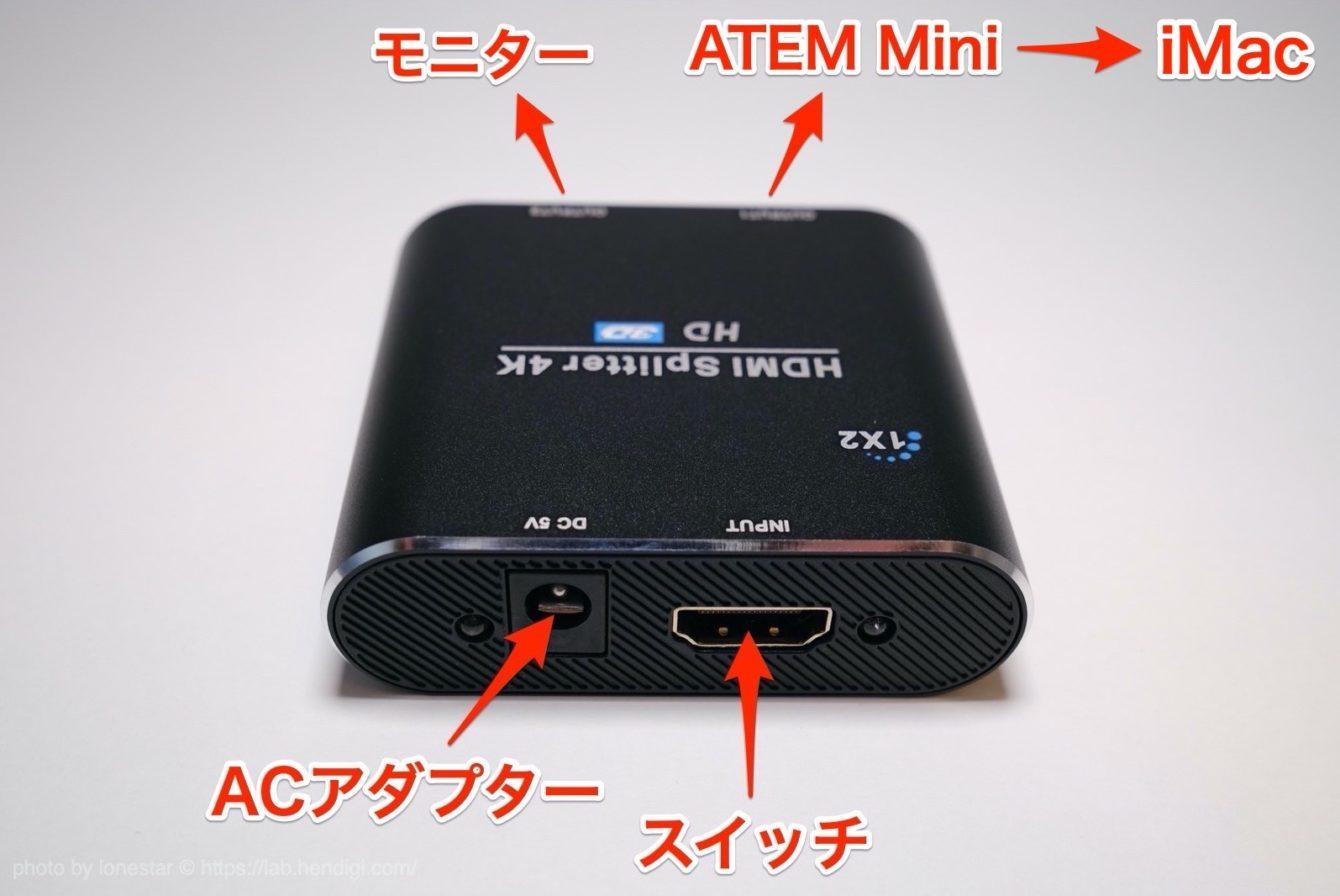 ATEM Mini HDMI分配器