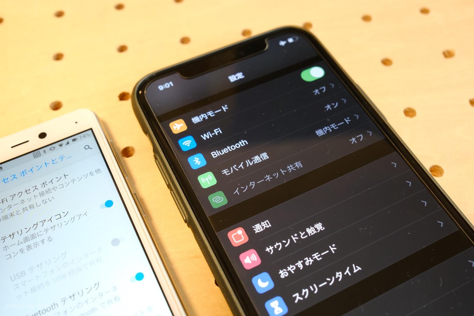 Rakuten Mini テザリング Bluetooth